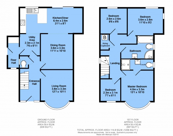 Floor Plan Image for 4 Bedroom Detached House for Sale in Hady Hill, Hady, Chesterfield, S41 0EF