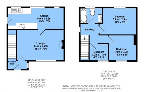 Floor Plan Image for 3 Bedroom Semi-Detached House for Sale in Wythburn Road, Newbold, Chesterfield, S41 8DP
