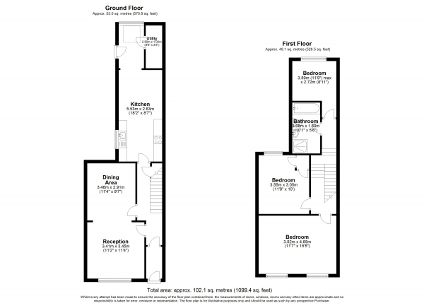 Floor Plan Image for 3 Bedroom Terraced House for Sale in Whewell Road, Archway