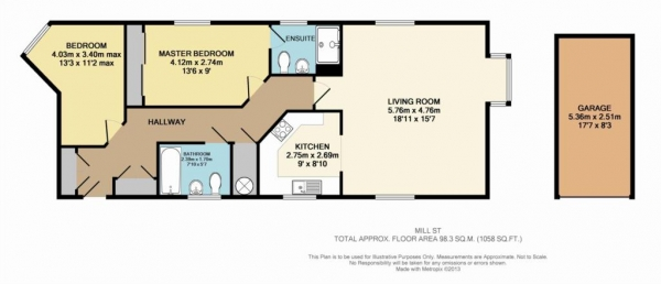 Floor Plan Image for 2 Bedroom Apartment for Sale in Apsley
