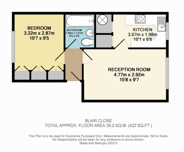 Floor Plan Image for 1 Bedroom Flat for Sale in Woodhall Farm
