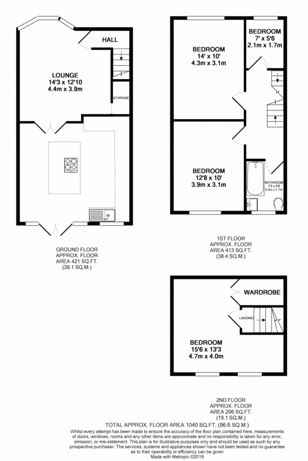 Floor Plan Image for 4 Bedroom Semi-Detached House for Sale in Milton Road, Manchester