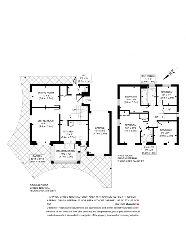 Floor Plan Image for 4 Bedroom Detached House for Sale in Don Bosco Close, Oxford