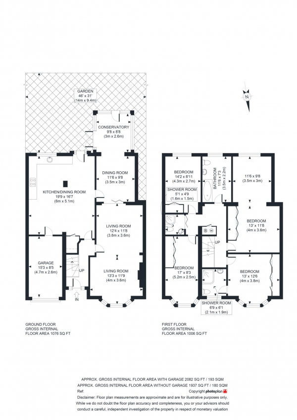 Floor Plan Image for 4 Bedroom Semi-Detached House for Sale in Westbury Crescent, Oxford