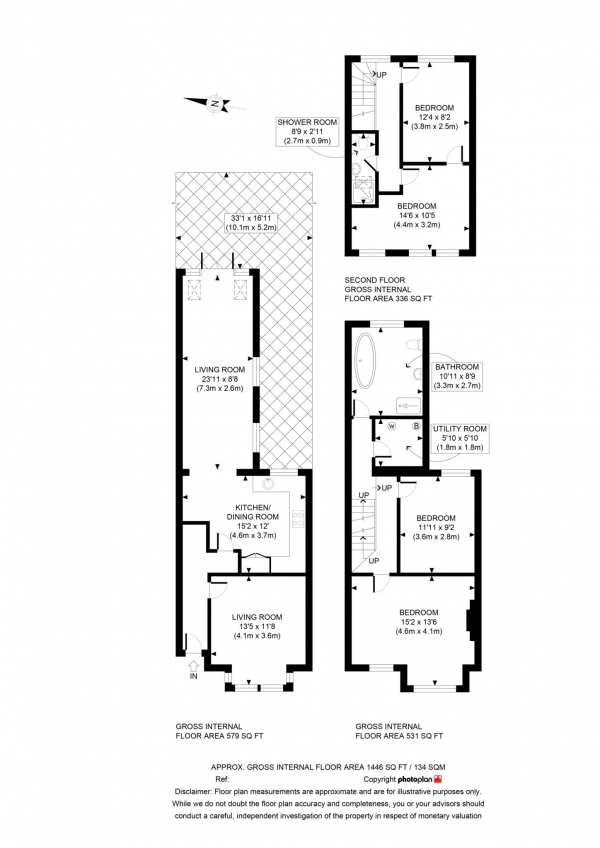 Floor Plan Image for 4 Bedroom Terraced House for Sale in Chilswell Road, Grandpont