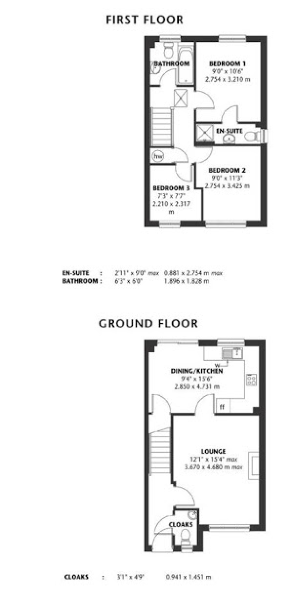 Floor Plan Image for 3 Bedroom Semi-Detached House for Sale in Glan Rhymni, Cardiff, CF24