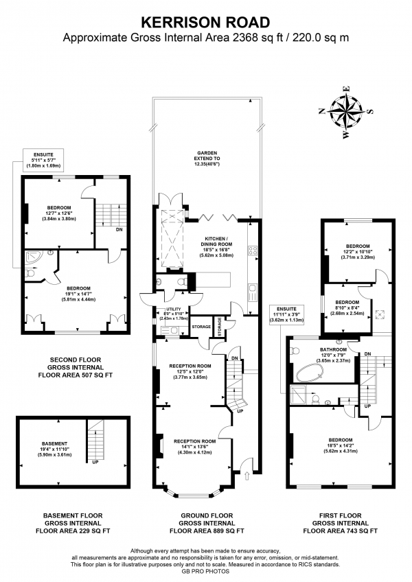 Floor Plan Image for 5 Bedroom Semi-Detached House for Sale in Kerrison Road, W5