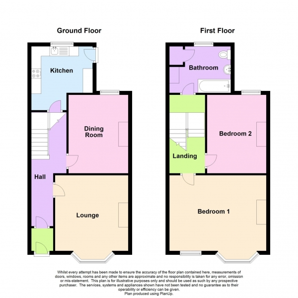 Floor Plan Image for 2 Bedroom Terraced House for Sale in Welbeck Avenue, City Centre, PL4 6BG