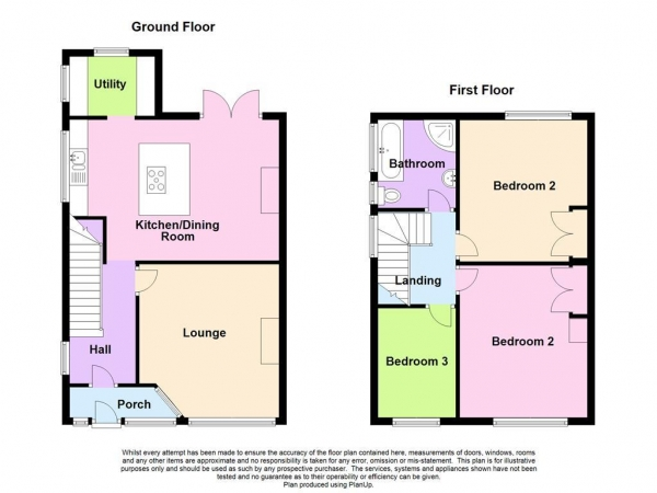 Floor Plan Image for 3 Bedroom Semi-Detached House for Sale in Litchaton Way, Plympton, PL7 4RD