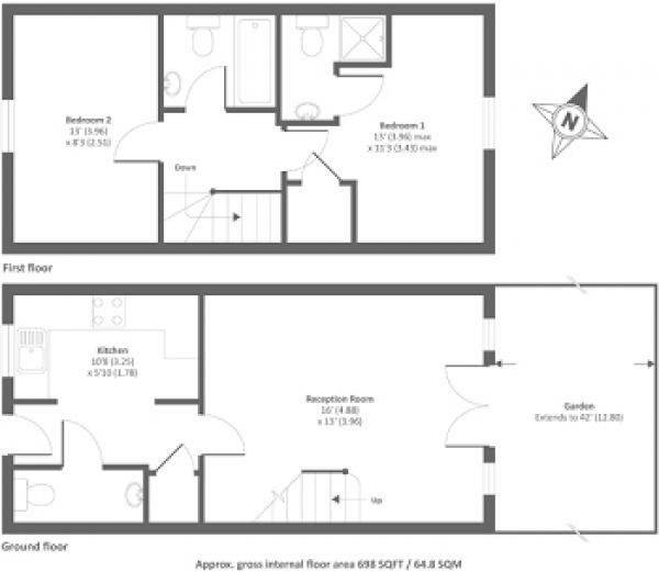Floor Plan Image for 2 Bedroom Terraced House for Sale in Alma Road, Banbury