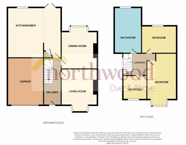 Floor Plan Image for 3 Bedroom Semi-Detached House for Sale in Avondale Avenue, Forest Hall, Newcastle Upon Tyne, NE12 7HT