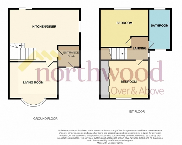 Floor Plan Image for 2 Bedroom Semi-Detached House for Sale in Ronald Drive, Denton Burn, Newcastle upon Tyne, NE15 7BA