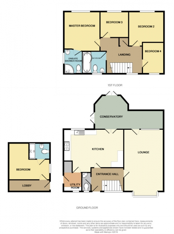 Floor Plan Image for 5 Bedroom Detached House for Sale in Delamere Close, Peterborough, PE1 4RX