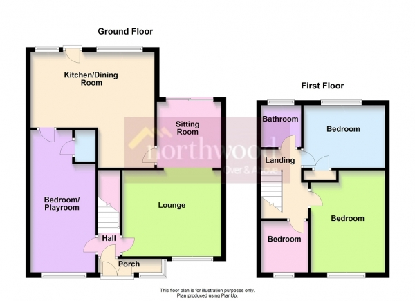 Floor Plan Image for 4 Bedroom Semi-Detached House for Sale in Salcombe Drive, Southport, PR9 9GL