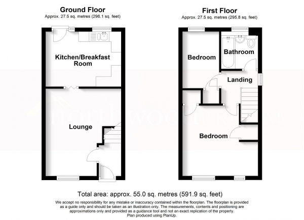 Floor Plan Image for 2 Bedroom Semi-Detached House for Sale in Lionel Grove, Penkhull, Stoke On Trent, ST4 6RW