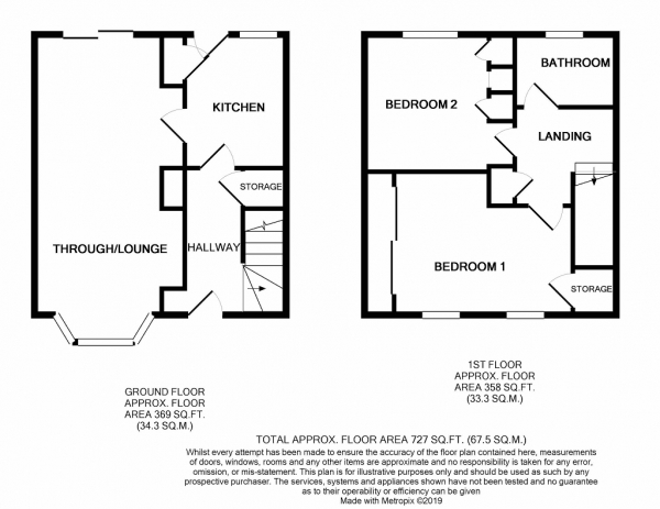 Floor Plan Image for 2 Bedroom Town House for Sale in Tweed Grove, Clayton, Newcastle, ST5 4AT