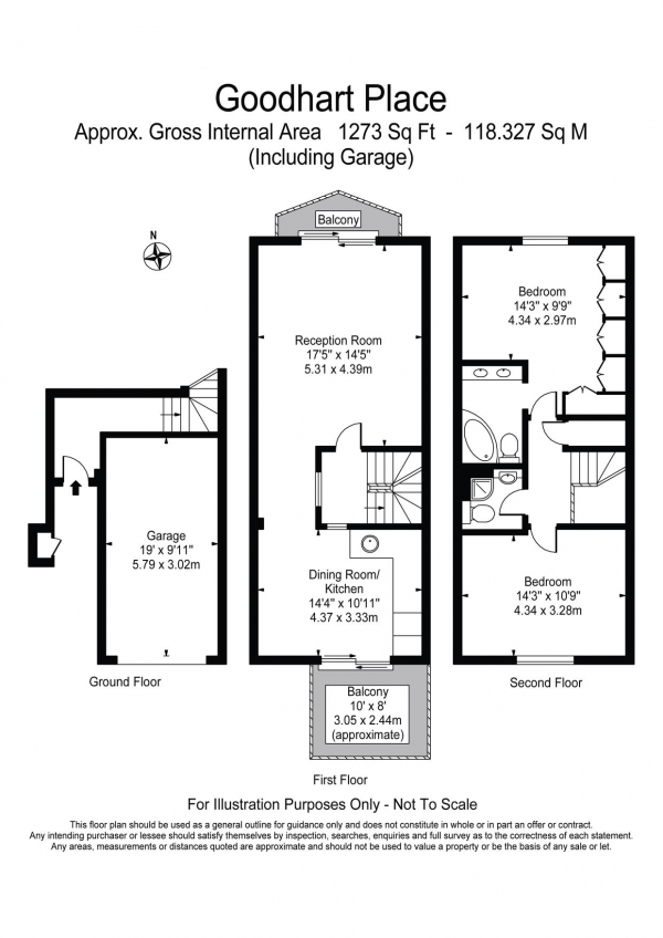 Floor Plan Image for 2 Bedroom Property for Sale in Goodhart Place Horseferry Road E14