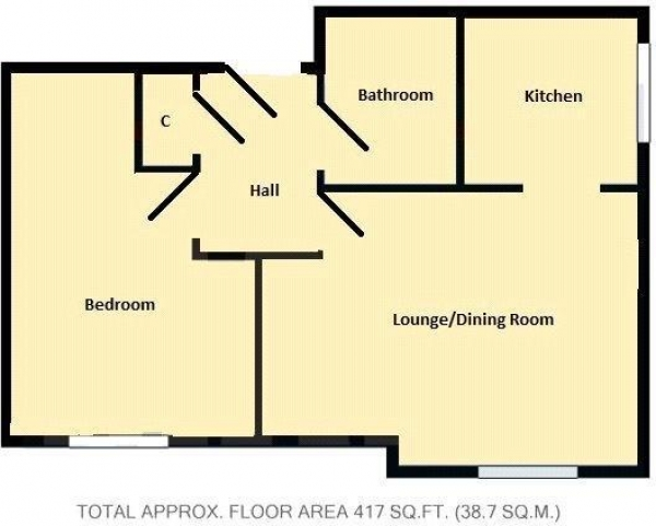 Floor Plan Image for 1 Bedroom Apartment for Sale in Sark Tower, Erebus Drive, SE28 0GG