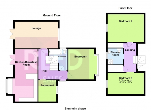 Floor Plan Image for 2 Bedroom Semi-Detached House for Sale in Blenheim Park Close, Leigh On Sea