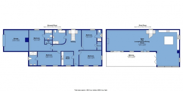 Floor Plan Image for 4 Bedroom Detached House for Sale in Stoke Rivers