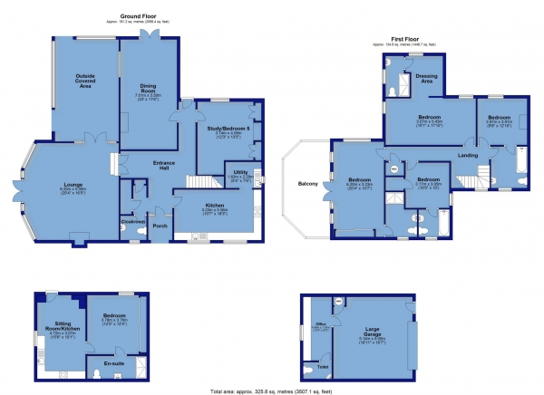Floor Plan Image for 5 Bedroom Detached House for Sale in Bideford