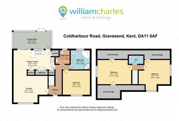 Floor Plan Image for 3 Bedroom Detached House for Sale in Coldharbour Road, Gravesend