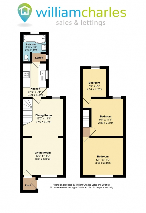 Floor Plan Image for 3 Bedroom Terraced House for Sale in ALFRED ROAD DA11 7QF