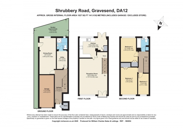 Floor Plan Image for 3 Bedroom End of Terrace House for Sale in Shrubbery Road, Gravesend