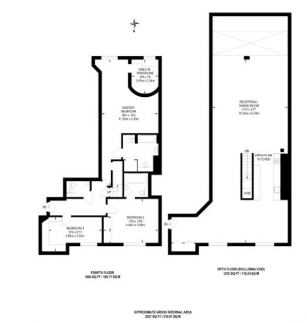 Floor Plan Image for 3 Bedroom Apartment for Sale in Port East Apartments